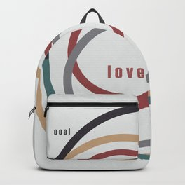 for Love || words & circles Backpack