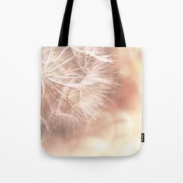 Pink Macro (2) Dandelion Flower - Floral Nature Photography Art and Accessories Tote Bag