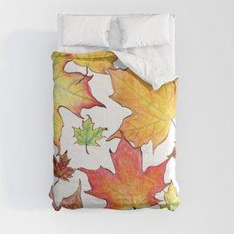 Autumn Maple Leaves Comforters