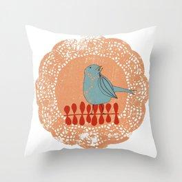 Blue Bird Throw Pillow