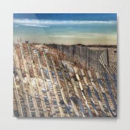 Winter Scape - Jones Beach Metal Print