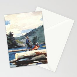 Hudson River Logging 1897 By WinslowHomer | Reproduction Stationery Cards
