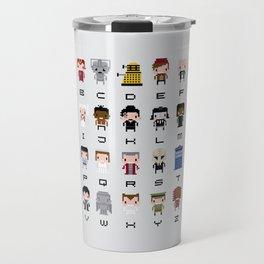 Doctor Who Alphabet Travel Mug