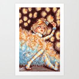 Ruffles and Stars Art Print