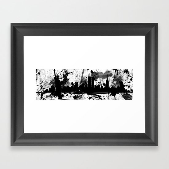 NYC Painted Framed Art Print