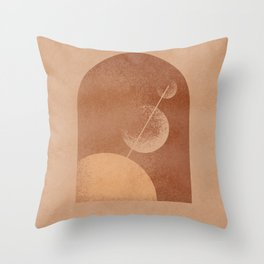 balance minimal shapes circles and grainy Throw Pillow