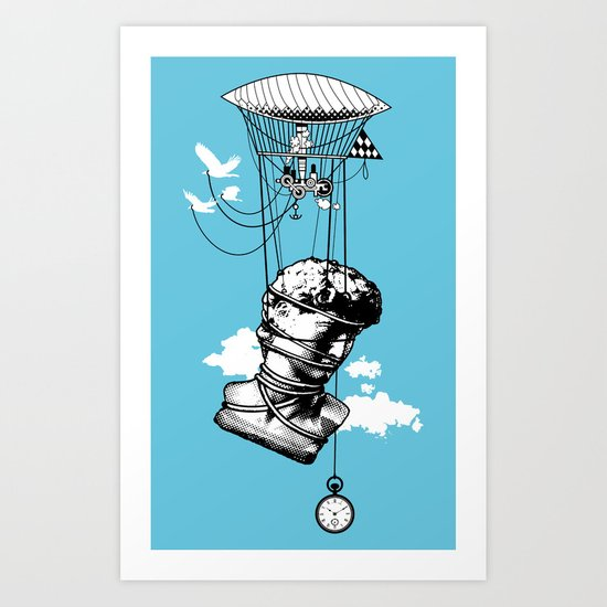 The Skies Are Full Of Strange Things Art Print