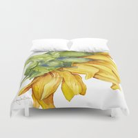 sunflower Duvet Covers featuring Sunflower by Cindy Lou Bailey