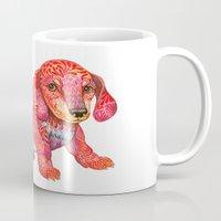 mini Mugs featuring Mini Dachshund  by Ola Liola