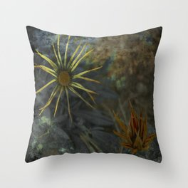Abstract Flowers on my way - Flores abstractas en mi camino Throw Pillow