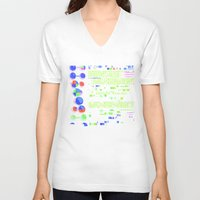 biology V-neck T-shirts featuring Conquer Biology by Leone Bachega