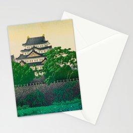 Kawase Hasui Vintage Japanese Woodblock Print Nagoya Castle Stationery Cards