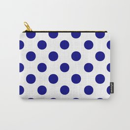 Polka Dots (Navy Blue/White) Carry-All Pouch