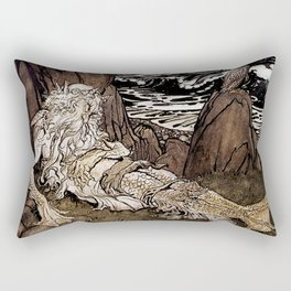 """A Crowned Merman"" by Arthur Rackham Rectangular Pillow"