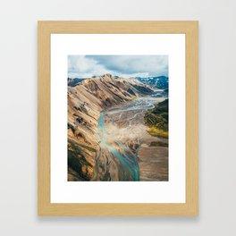 Iceland Melt Framed Art Print