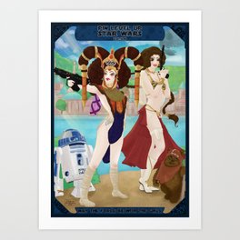 Pin'up Leia & Amidala - Star Wars Art Print
