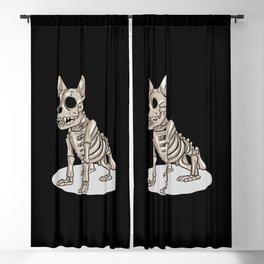 Bulldog Skeleton Blackout Curtain
