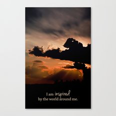 inspired by the world II Canvas Print