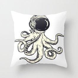 Astronaut Octopus Throw Pillow