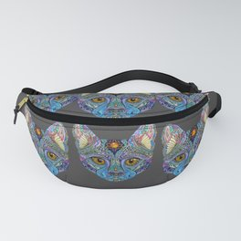 Mystic Psychedelic Cat Fanny Pack