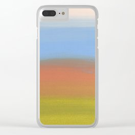 Abstracted Landscape Clear iPhone Case