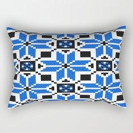 Folclor - Folk - Blue Ucraine  Rectangular Pillow