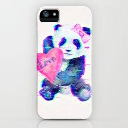 GLITCH PANDA iPhone Case