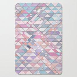 Triangle Pattern no.25 Light Pink Cutting Board