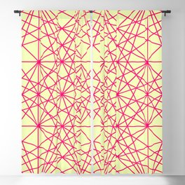 Pink & Yellow Lines Blackout Curtain