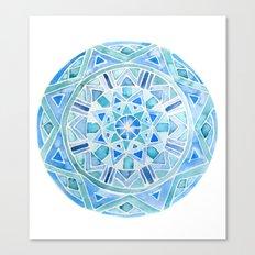 Blue Mandala 1 Canvas Print