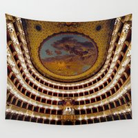 theatre Wall Tapestries featuring Royal Theatre of Saint Charles by EclipseLio