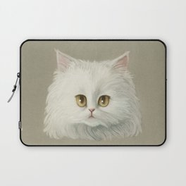 My White Cat's Face Laptop Sleeve