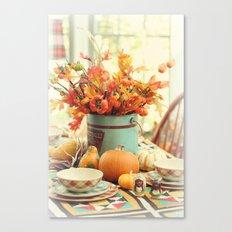 The Autumn table Canvas Print