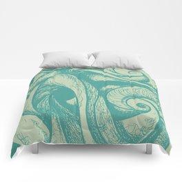 swirl (green and tan) Comforters