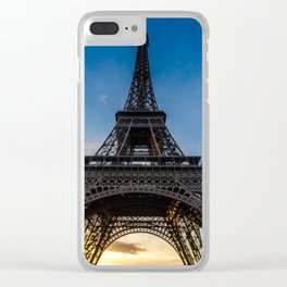 Eiffel Tower at Sunset Clear iPhone Case