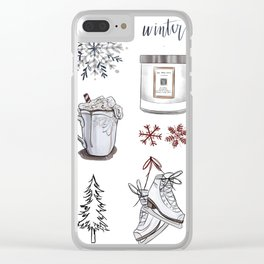 Winter Wishes Clear iPhone Case