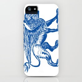 Gryphon-Blue iPhone Case