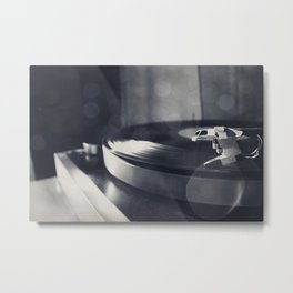 from time to time i like listening to an old record Metal Print