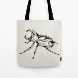 Rhinoceros Beetle Tote Bag