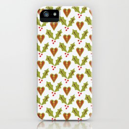 Festive Christmas Holly iPhone Case