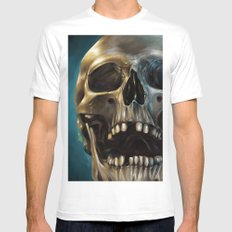 Skull 4 Mens Fitted Tee MEDIUM White