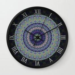 Ornamented mandala with flower motiff Wall Clock