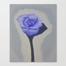 Grandma's Blue Rose Canvas Print