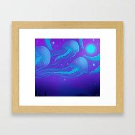 Mystic Jelly Sky Framed Art Print