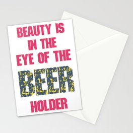 in the eye of beer  - I love beer Stationery Cards