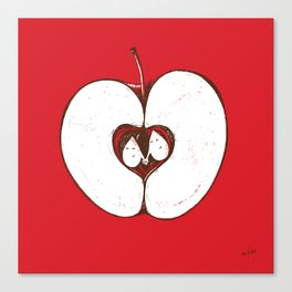 Adam & Eve. Another story of apple. Canvas Print