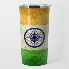 Flag of India - Grungy Vintage Travel Mug
