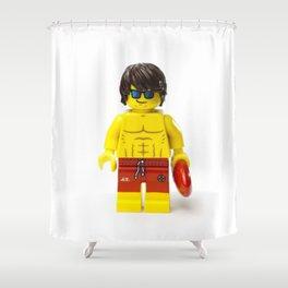 Minifig Lifesaver Shower Curtain