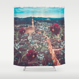 Dahlia Giants in Florence Shower Curtain