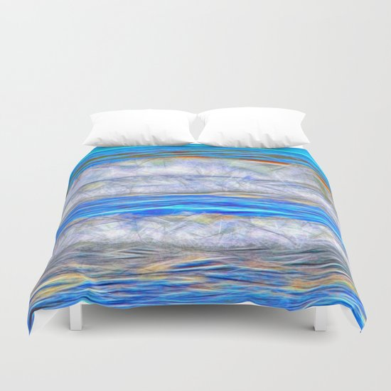 Abstract beautiful ocean waves Duvet Cover